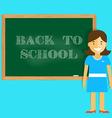 Teacher welcomes students back to school vector image