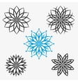 set of elements flowers or snowflakes vector image