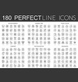 180 outline mini concept icons symbols of vector image vector image