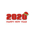 2020 happy new year greeting card red vector image vector image