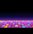 a dance floor amongst starry open space vector image vector image