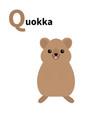 abc english alphabet letter q qokka cute cartoon vector image vector image