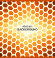 abstract background with orange hexagons vector image vector image