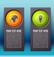 abstract infographic vertical banners vector image vector image