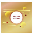 abstract line background with golden background vector image vector image