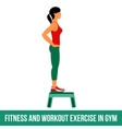 Aerobic icons full color 28 vector image