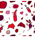 anemia seamless pattern vector image vector image