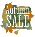 Autumn sale and discount cartoon banner vector image