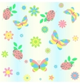 background with butterfly and ladybird vector image vector image