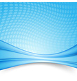 Bright blue swoosh lines folder template vector image vector image