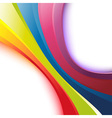 Bright rainbow wave background vector image vector image