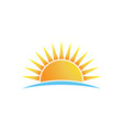 bright sun shining logo isolated vector image