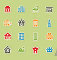 building icon set vector image