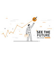 businessman achieves the goal performance vector image