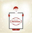 christmas card with santa clause and frame vector image