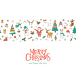 christmas seamless pattern banner vector image