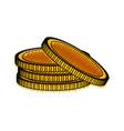 coins money symbol vector image vector image
