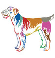 colorful decorative standing portrait of airedale vector image vector image