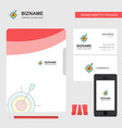 dart game business logo file cover visiting card vector image vector image