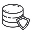 data protection line icon seo and development vector image vector image