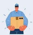 delivery man delivering vector image vector image