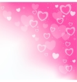 dream hearts pink background vector image vector image
