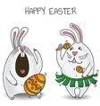 Easter bunnies vector image