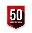 Fifty years happy birthday ribbon vector image vector image
