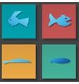 fish icons set vector image