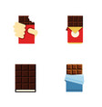 flat icon cacao set of shaped box dessert vector image vector image