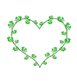 Flowers of Neem in A Heart Shape vector image vector image