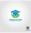 graduation - education logo template vector image