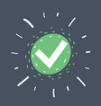 green check mark icon vector image vector image