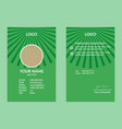green id card template 16 vector image vector image