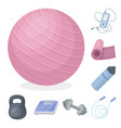 gym and training cartoon icons in set collection vector image vector image