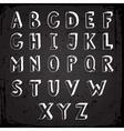 Handmade typeface vector image vector image