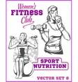 Healthy Fitness Girls vector image vector image