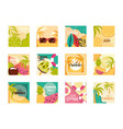 hello summer travel and vacation season banner vector image vector image