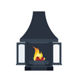 home black fireplace to paste in interior of vector image