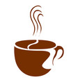 isolated coffee mug logo vector image vector image