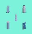 isometric skyscraper set of business center vector image vector image