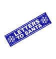 letters to santa grunge rectangle stamp seal with vector image vector image