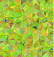Lime color triangle mosaic background design vector image