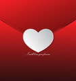 Love letter Valentines day vector image