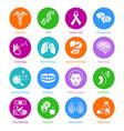 Medicine icons - METRO series vector image
