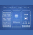 mobile ux design concept vector image vector image