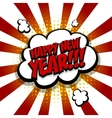 New year Speech comic bubble text red yellow vector image