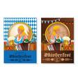 oktoberfest beer festival poster design set vector image