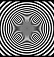 pattern decreasing circles effect the vector image