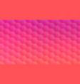 pink peach hexagon mosaic backdrop for banner vector image